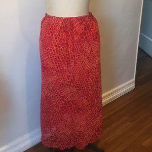 Clio print maxi skirt